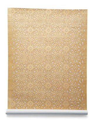 floral brown wallpaper