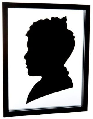 a black and white silhouette of a boy