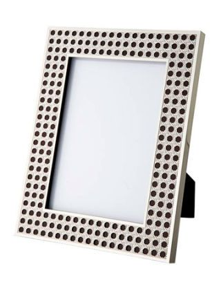 silver plated frame with cane design