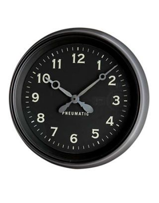 a black clock with white numbers