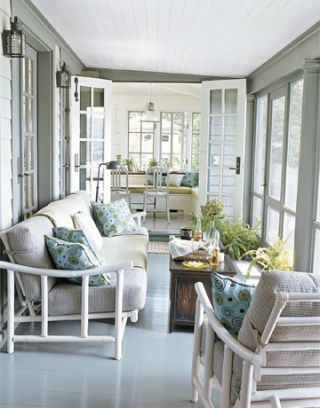 sun porch inside the cottage