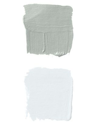two gray and white paint swatches