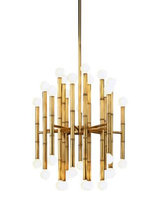 metallic brass chandelier
