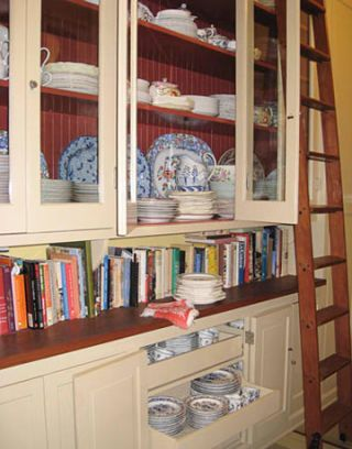 pantry with china