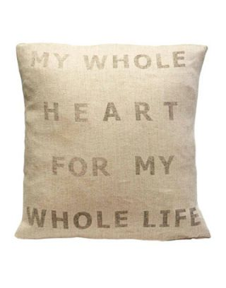 pillow with writing