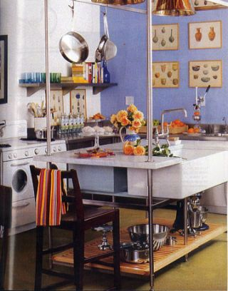 blue and modern kitchen