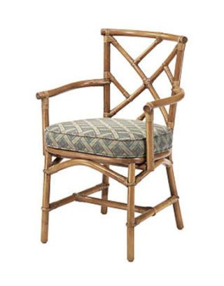 bamboo chair with cushion