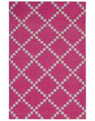 pink and gray diamond pattern rug