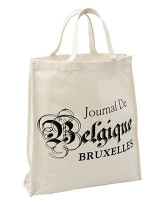 market tote with french writing