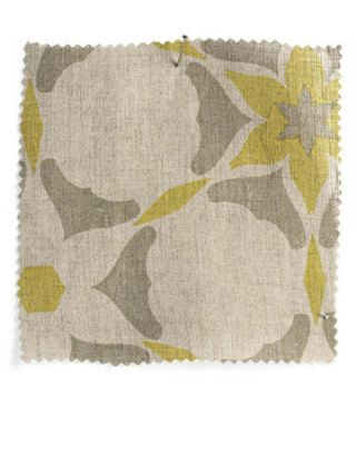 yellow beige and taupe fabric swatch