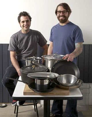 jon shook and vinny dotolo with pots and pans
