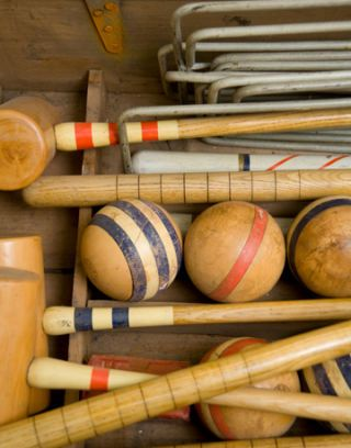 croquet set in the box