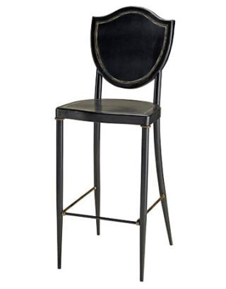 black counter stool with decorative back