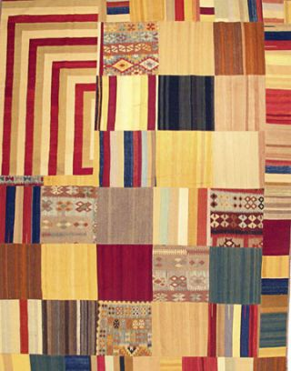 colorful patchwork rug