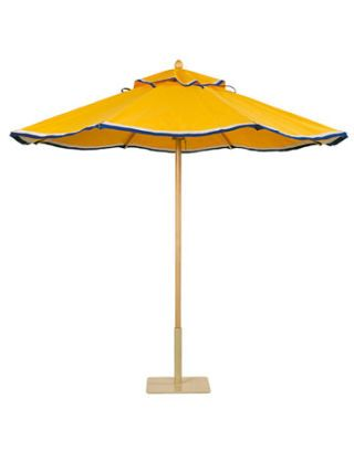 yellow patio umbrella