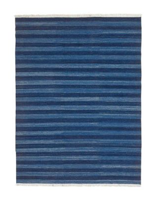 blue stripe rug