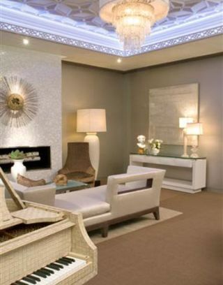 neutral living room with modern and traditional elements