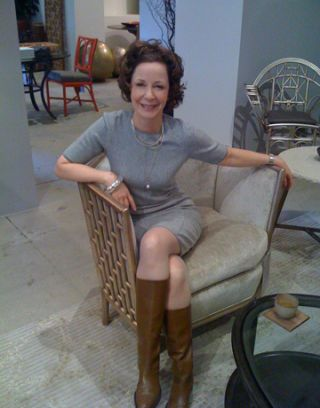 barbara barry sitting in her new chair
