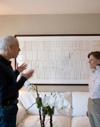 jonathan rosen and the owner meet in the living room