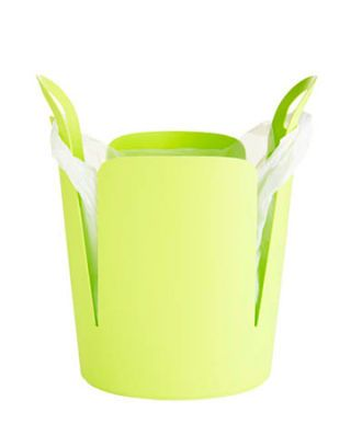 lime green modern trash can