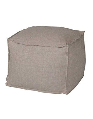 beige square beanbag chair