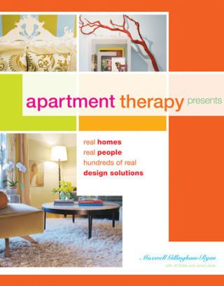 cover of apartment therapy book with title author and images