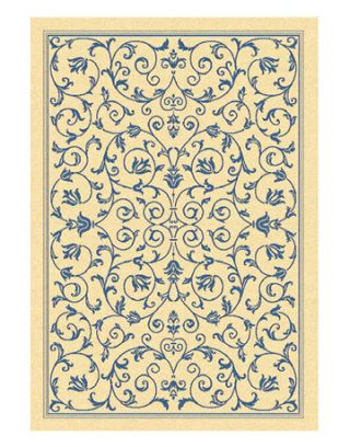 blue and white rug