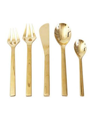 gold modern flatware