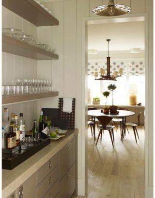 bar area near kitchen