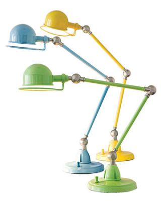 green blue yellow task lamps