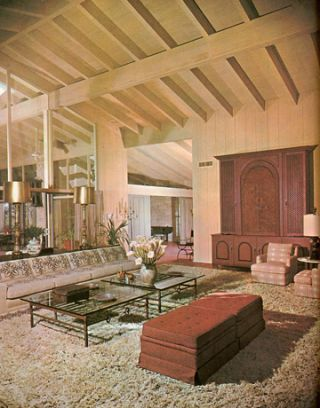 Awesome 1963 Ranch Living Room Furniture Placement For Highceiling Living Room 1960s Furniture Styles Pictures Interior Design From The