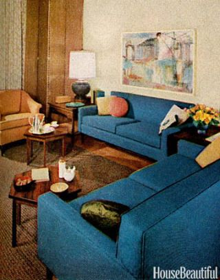 Blue Sofas In Living Room
