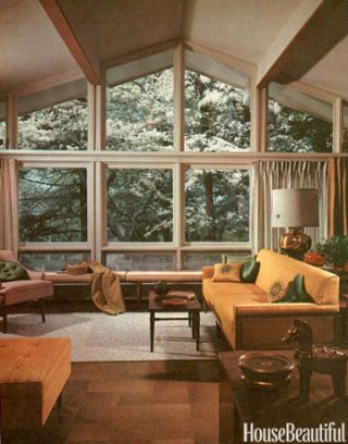 living room with large window & 1960s Furniture Styles Pictures - Interior Design from the 1960s