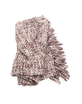 woven purple throw blanket