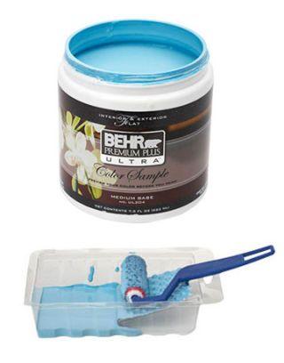 blue behr paint