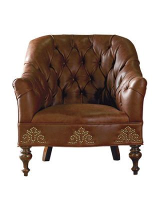 brown tufted chair