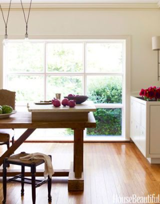 11 feet long table and large window