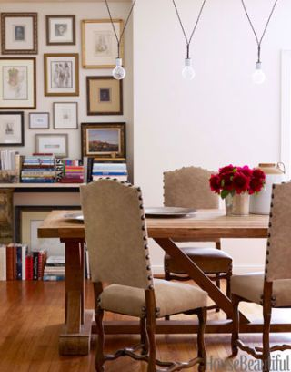 dining area with antiques