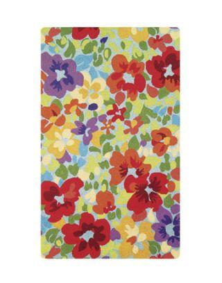 floral print rug