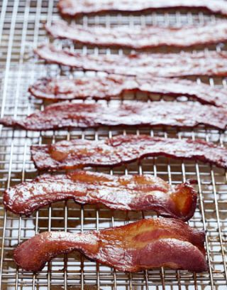 bacon on wire rack