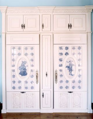 white cabinet front refrigerators