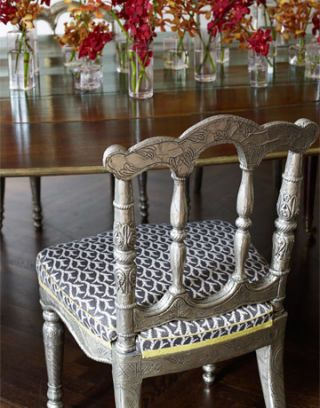 silver dining room chair