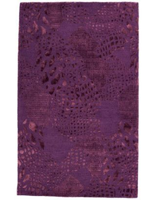 purple snake skin print rug design