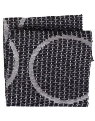 black and pewter colored fabric