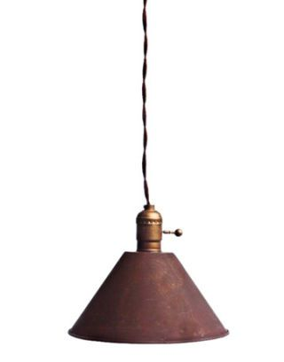 antique rusty red vintage metal brass lamp