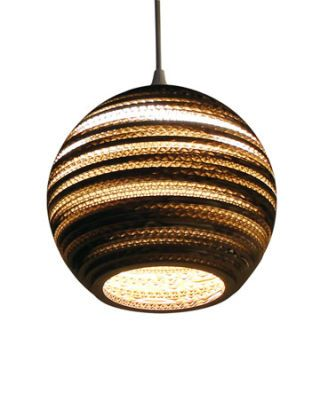 brown striped globular lamp jupiter lamp