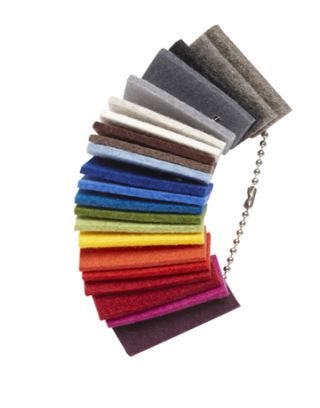 rainbow assortment of felt wool