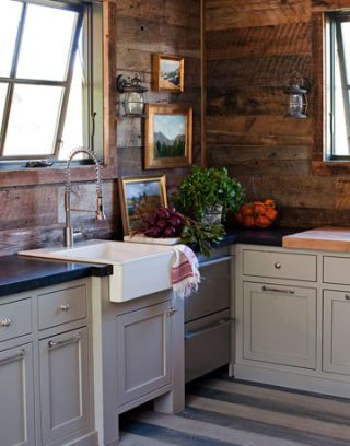 corner of kitchen with farmhouse sink and dishwasher