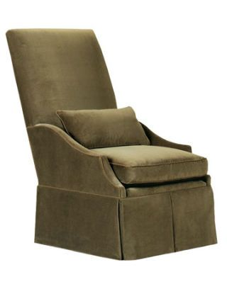 beige suede high back chair