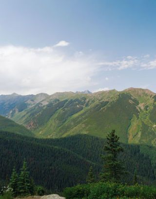 view from the house of the mountains in aspen colorado